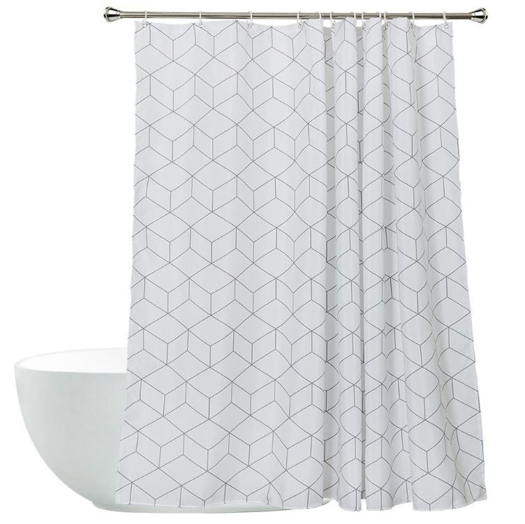 Elegant Hotel Hemp Fabric Shower Curtain