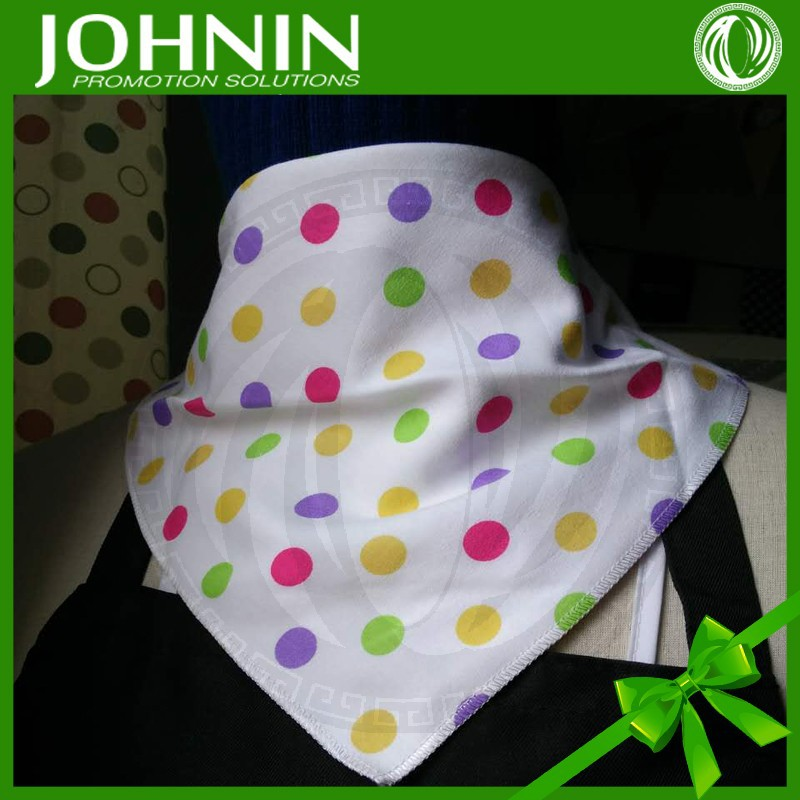 high quality cotton baby bandana bibs with 2 snaps