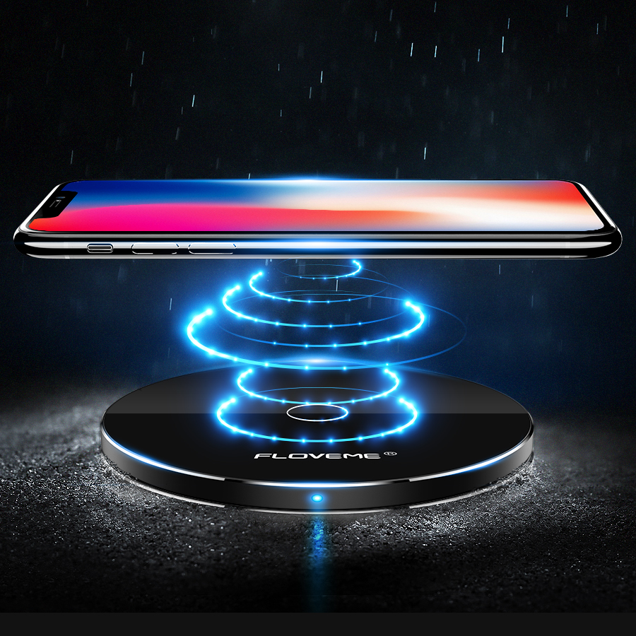 FLOVEME Free Shipping qi wireless charger receiver table wireless charger ultra thin wireless charger