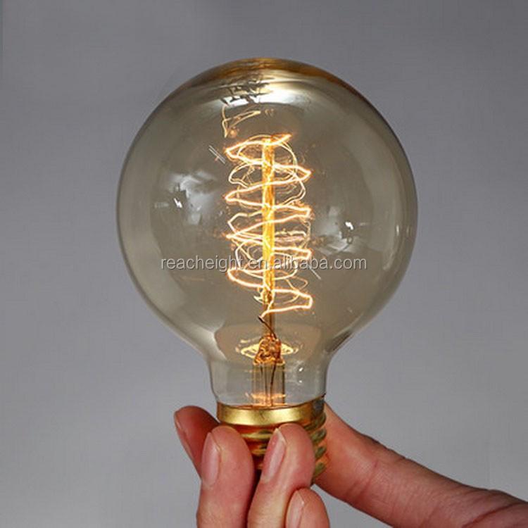 G80 D80mm L118mm Round Shape Edison Bulbs Pendant Lamps