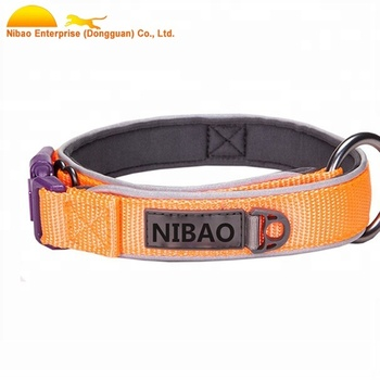 3M Reflective Thick Neoprene Padded stability comfort Dog Collar