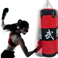 70cm sandbag EMPTY Training Fitness MMA Boxing Bag Hook Hanging Kick Fight Bag Sand Punch Punching