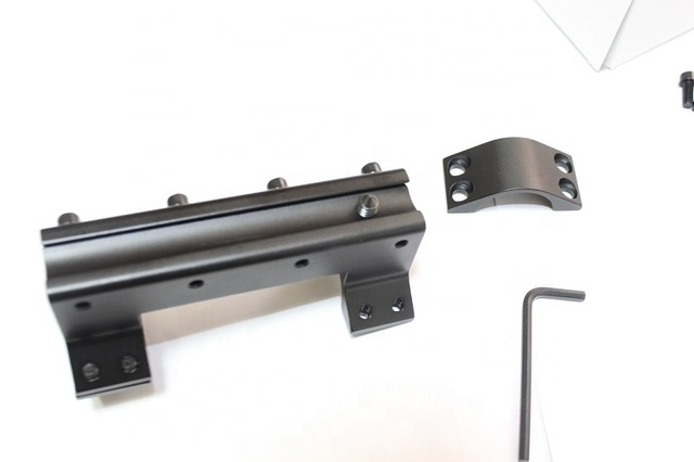 One Piece High Profile Magnum Airgun Scope Mount with Stop Pin Hunting Black US