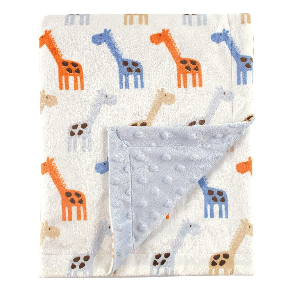 Super soft customized  throw flannel coral fleece baby minky dot blanket