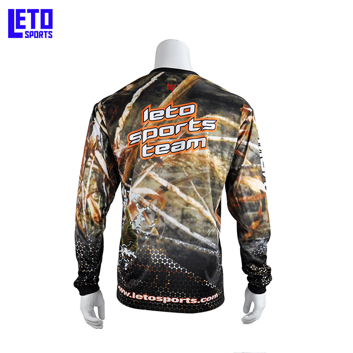 design your own Full Dye Long Sleeve Performance Fishing Bass jersey shirts