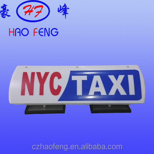 Advertising Led Taxi Neon Light Box Magnet Sign