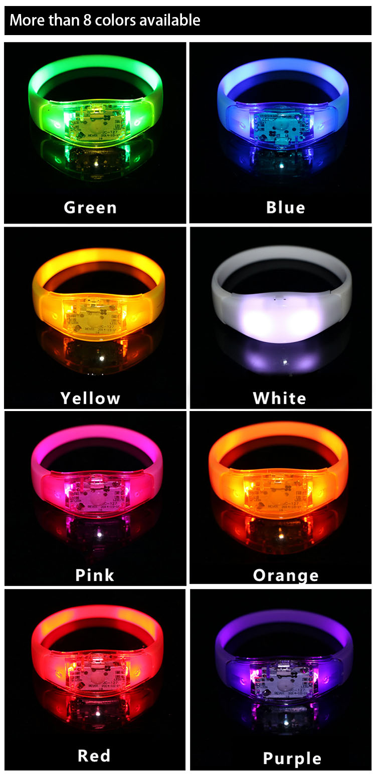 Event And Party Promotional Light Up Music Bracelet, Flashing Music Bracelet, LED Music Bracelet