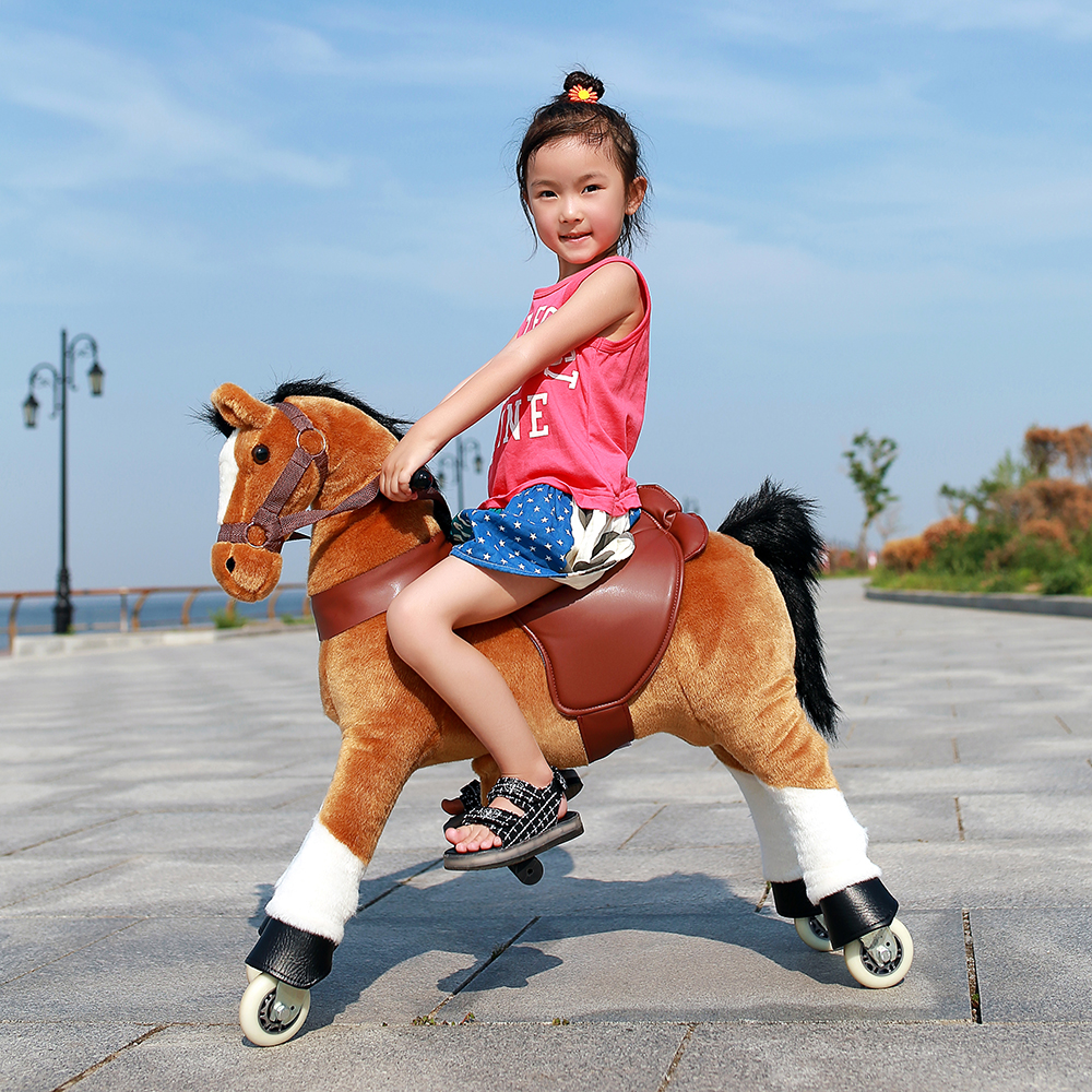 Animal Ride Walking Toy Riding Horse On Toy Wheels For Kid And Adult