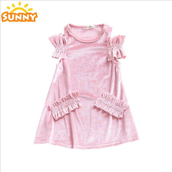 40c872d49760 Turkey Wholesale Children Clothes Baby Girl Maxi Party Dress Pink ...