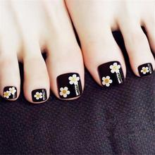 Искусственные губки для ног с японскими цветами, розовые накладные ногти на ногах для девочек, для отпуска, Kiss, impresse, на ногах(Китай)