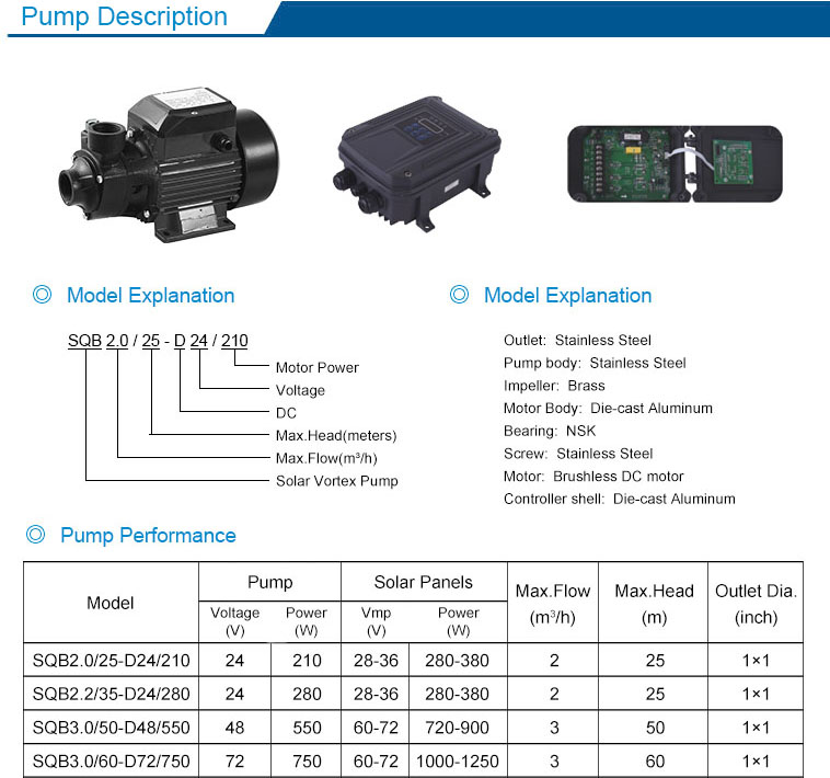 24v brushless dc booster pump for irrigation surface solar water pumps