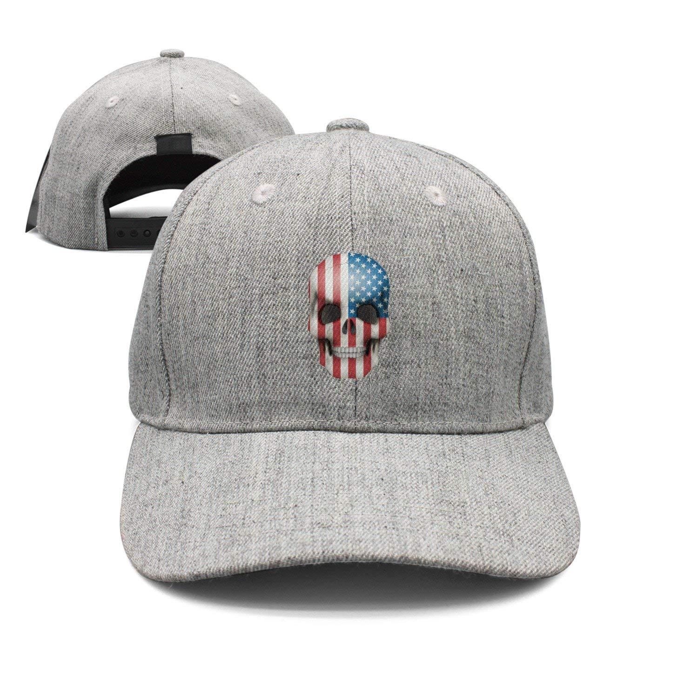 Haydner Moosers Skull American Flag Unisex Baseball Hats Adjustable Trucker Cap