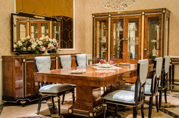 YB69 Luxury Nice Elegant 10 Persons Dining Table With Chairs, Foshan City  Classic European Dining