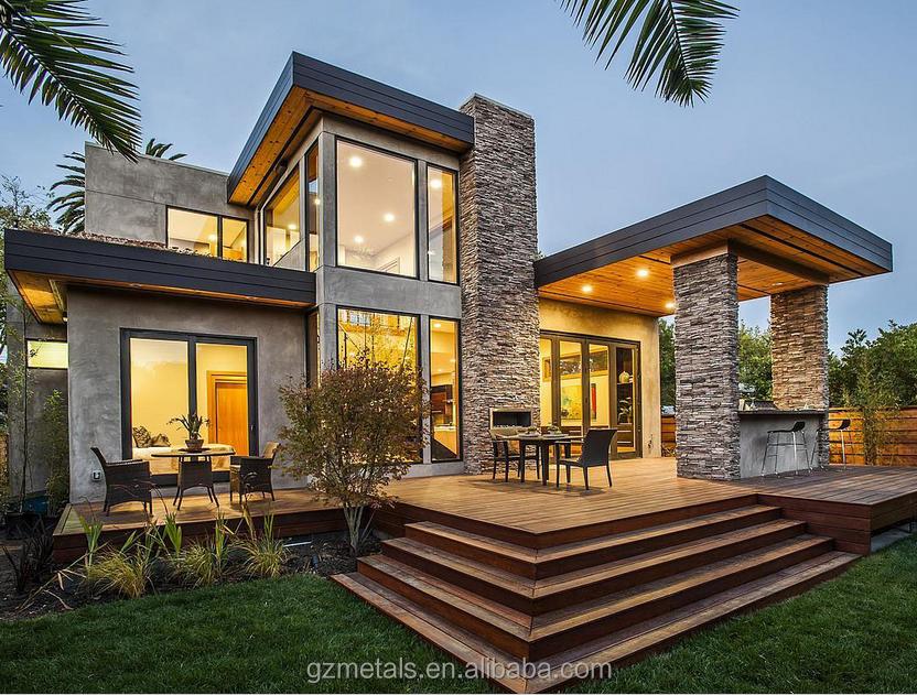 Luxury Villa Glass Prefab House Design