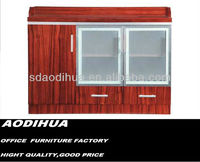 New Wooden cabinet three door / glass cabinet 09A-8