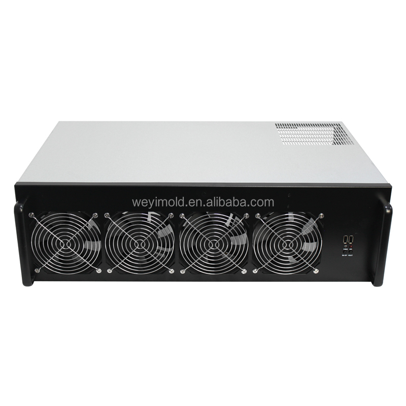 4U 8GPU PC mining case for ETH/ZEC/ETC/HC with fans, 230OMH/s(ETH) NDA motherboard, cpu, SSD, memory, psu, win10 64bits system фото