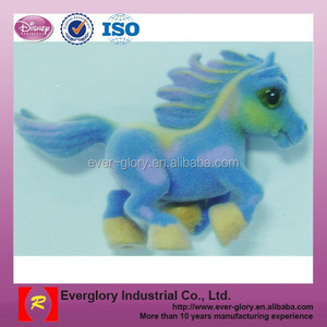 qute flocked toys, Plastic flocking Horse Toy