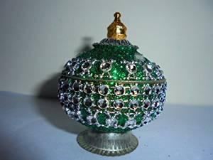 Artcollectibles India Beautiful Decorative Trinket Box Jewelry Sindoor Kumkum Box for Christmas Diwali