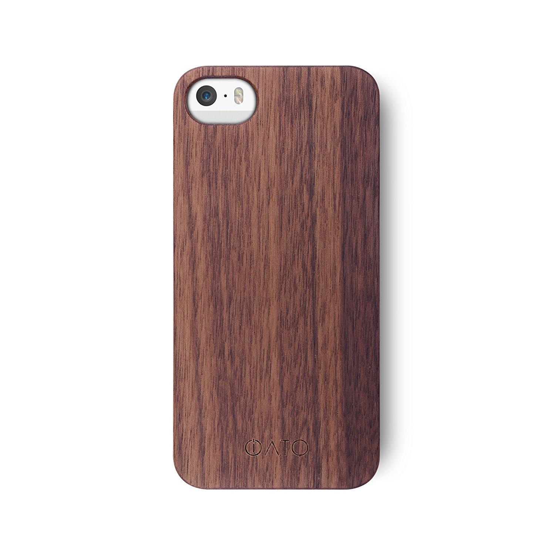 iPhone SE / 5S / 5 Case | iATO Real Wood Cover | Unique Classy & Stylish Premium Genuine Wooden Accessory for Apple iPhone SE / iPhone 5S / iPhone 5