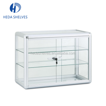 China Factory Retail Shop Glass Jewelry Display Cabinets Metal Showcase  Cabinet