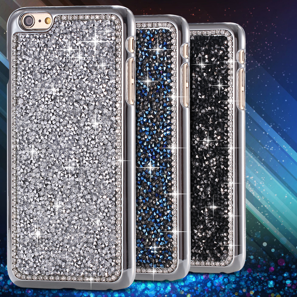 detailed look ef707 fa099 Superb! 3D Block Diamond Case For Apple iphone 6 Plus 5'5 Tough Rhinestone  Back Protective Cover Cell Mobile Phone Accessories