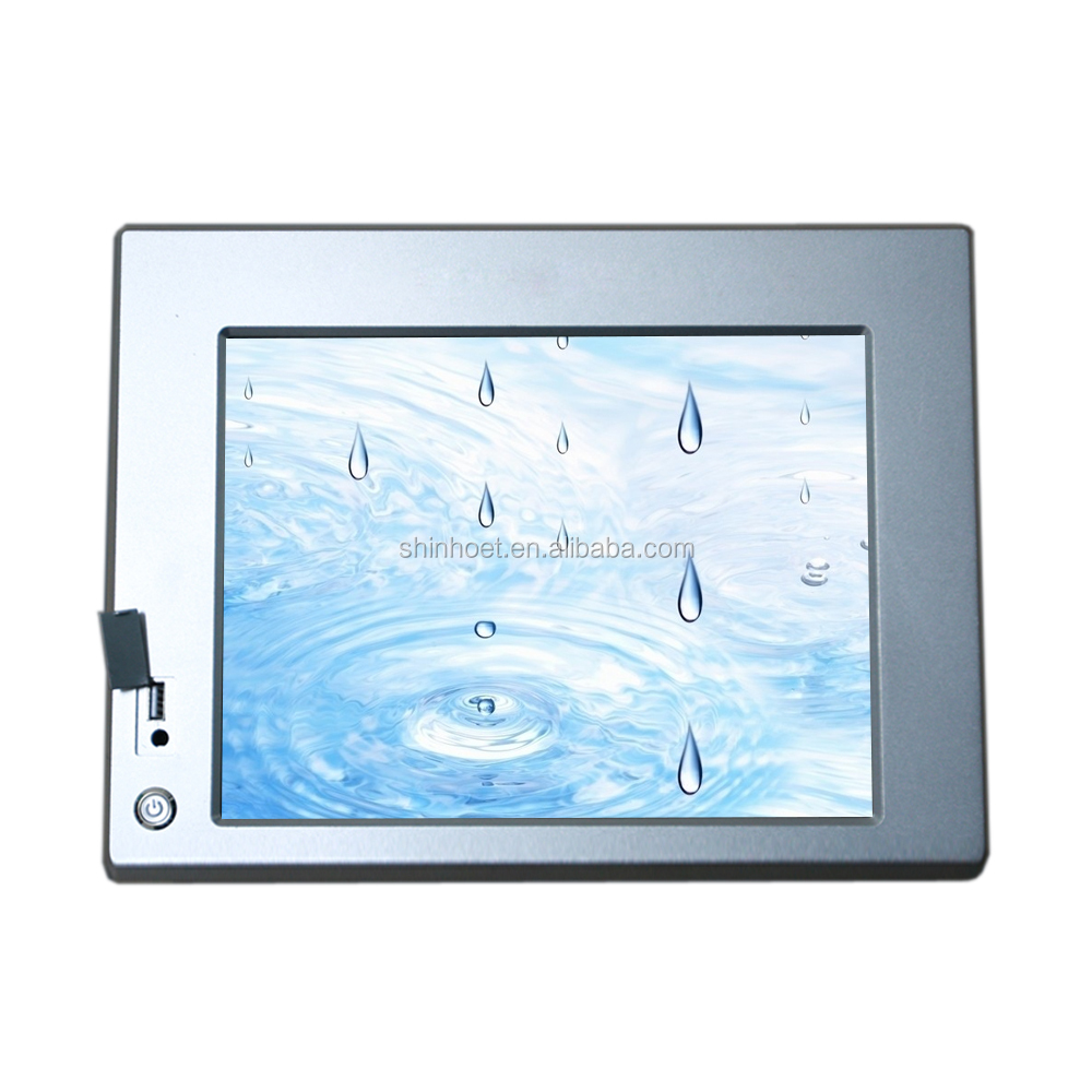 Aluminum Front Bezel IP65 10.4'' capacitive touch Fanless Panel PCs