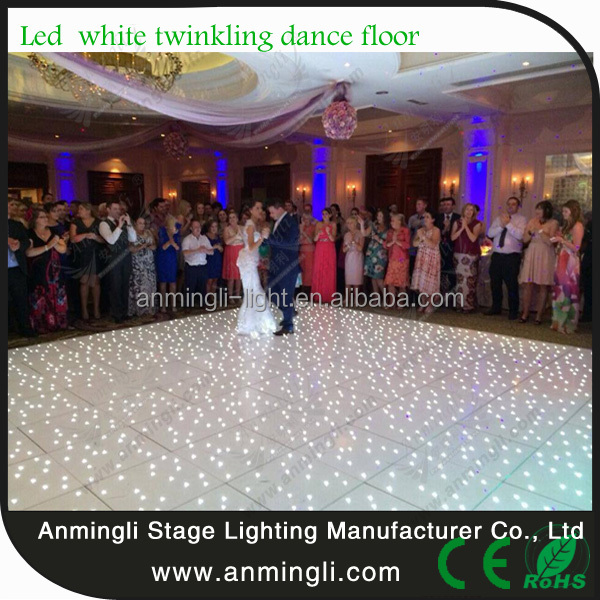 high quality used Led twinkling dance floor with flight case packing