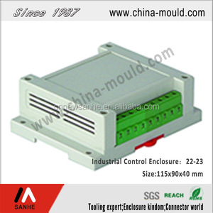 DIN Rail plastic enclosure for electronic, industrial control boxes for PCB