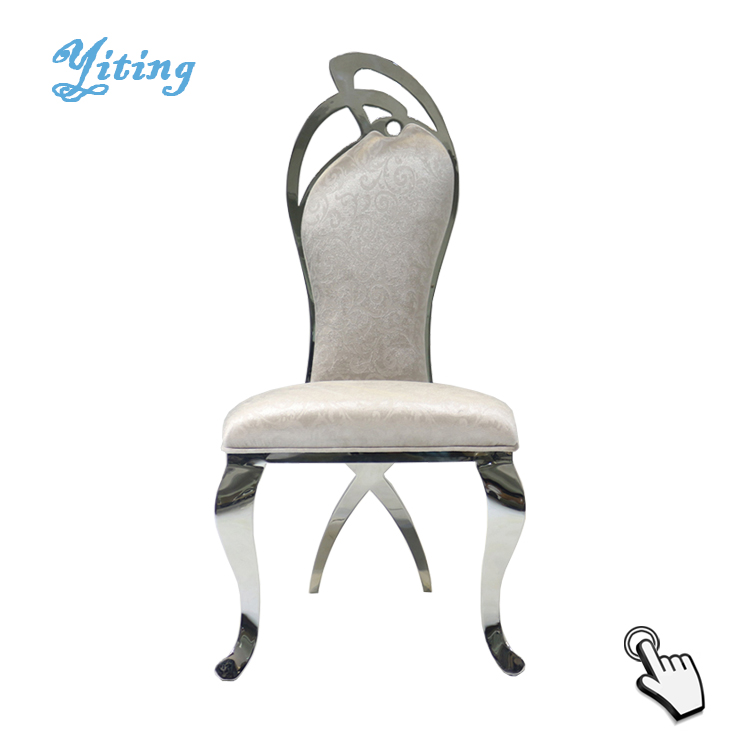 Hotel furniture wedding metal restaurant events stainless steel chair banquet for wholesale