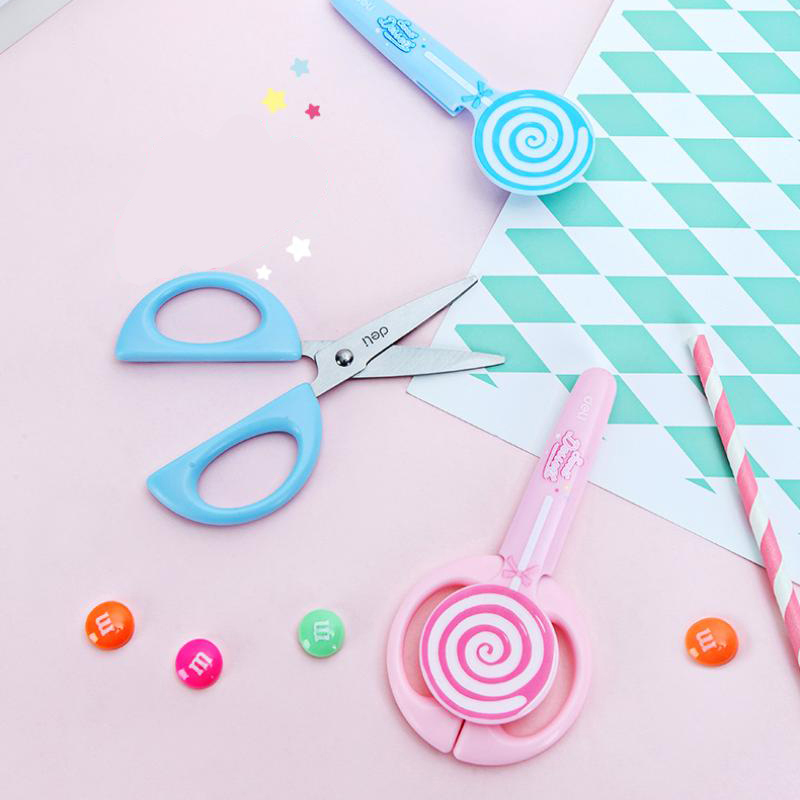 Scissors Scissor Student Kid Fold Stationery Paper Cut Office Art Child Preschool Photo Safe Blunt Tip Protect Portable Diy School Home