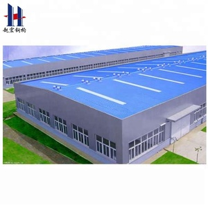 Prefab steel frame poultry barns chicken farm building