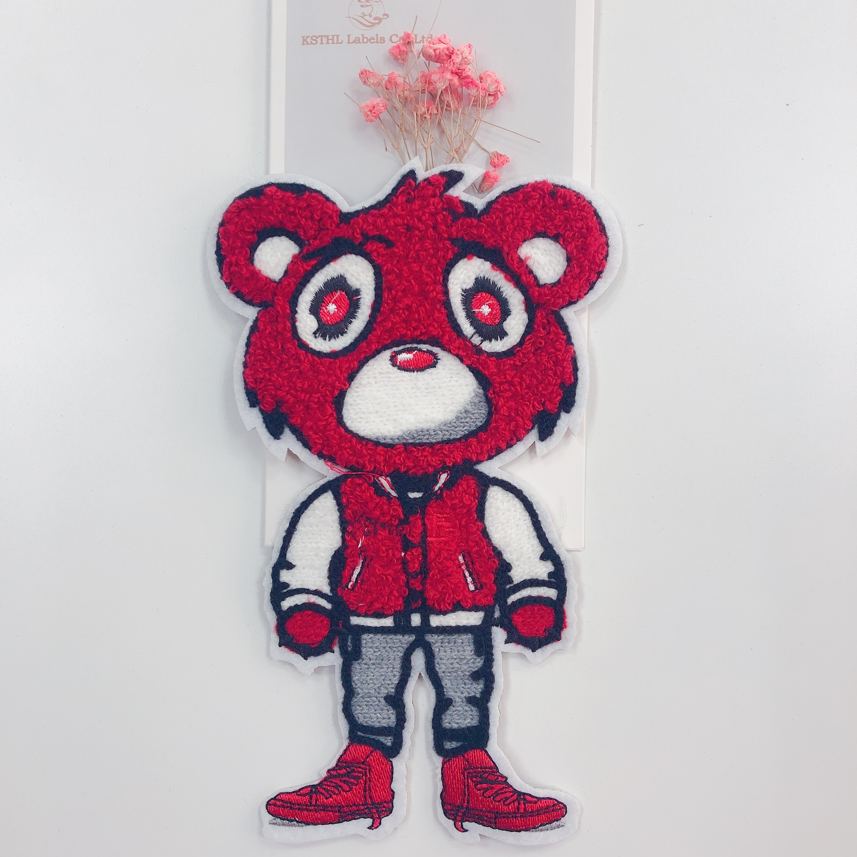 Wholesale custom sew on towel embroidery patch garment woven patch for boys for clothingIMG_1728
