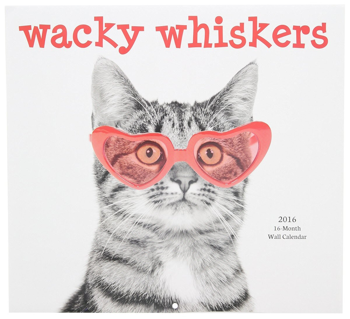 2016 Wacky Whiskers Calendar - 16-Month Cats and Dogs Wall Calendar Planner
