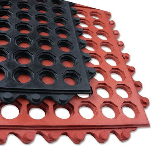 Anti-fatigue Floor ring Mat/Hollow Ring' Connectable Rubber Tile Mats