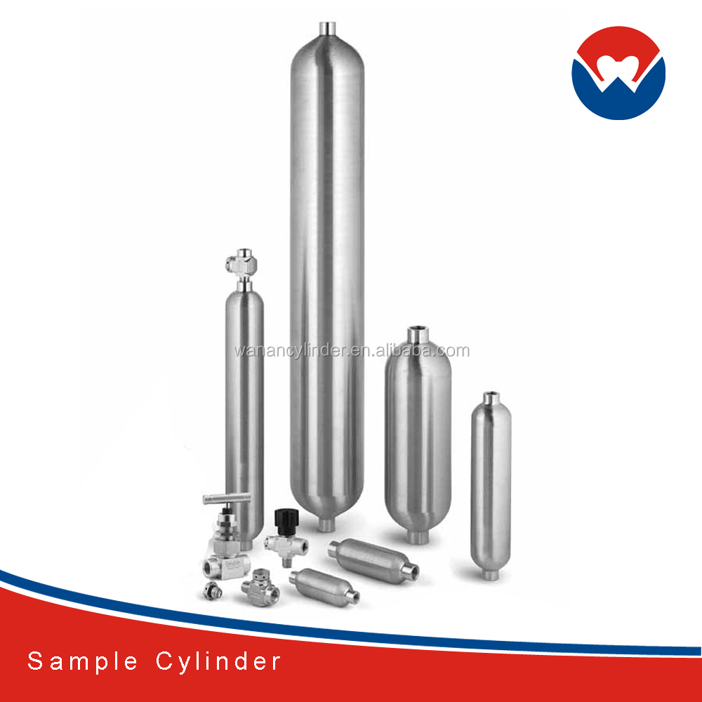 300CC, 304L, 316L Double-Ended 1/4 inch 1800 psig FNPT DOT-Compliant Sample Cilinder