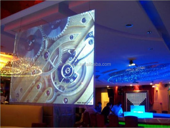 transparent projection screen The solution is an acoustically transparent screen that is, a projection screen with a weave or with tiny holes to allow the sound to pass through.