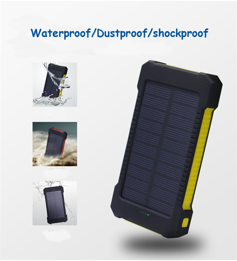 Dropshipping wristband 10000mah power bank with sos rohs solar.