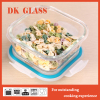 Airtight borosilicate glass meal prep containers/ Microwave safe glass lunch box for office/ Clear glass food container