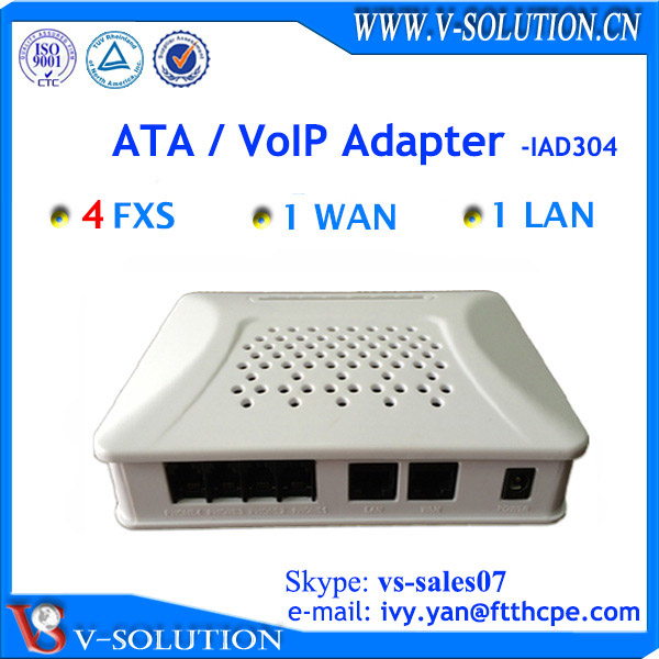 SIP IP telephone analogue adapter voip 4 port ata