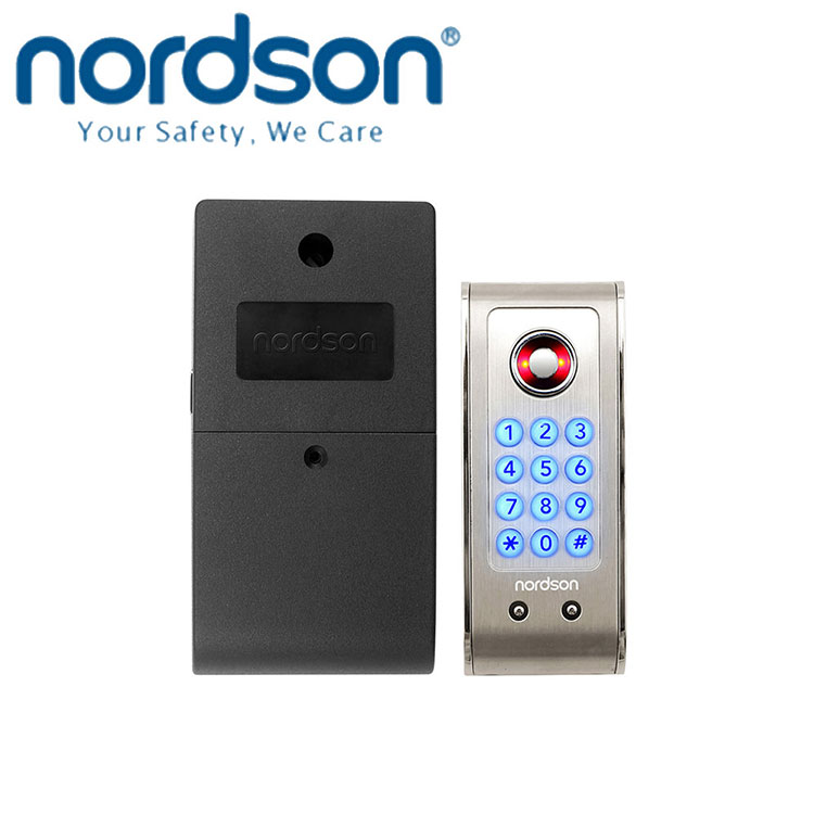 Nordson keypad 3 x AA alkaline battery TM Card Health and Fitness clubs stainless steel cabinet door lock RFID reader lock