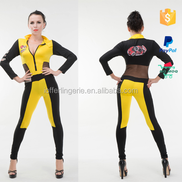 Wholesale Racer Outfit Girls Sports Wear Costumes