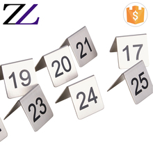 Zhuolin restaurant hotel supplies cheap stainless steel banquet restaurant wedding table number