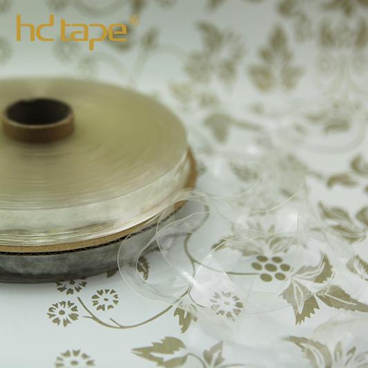 Oeko-tex 100 acessório de vestuário de fita de tpu claro transparente para laço de cabide