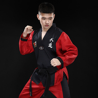 children wear long sleeved Genuine Red Eagle Taekwondo Taekwondo clothing adult men and women