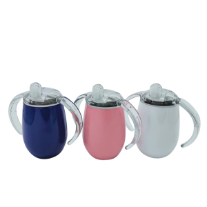 Personalized BPA Free 9oz Double Wall Insulated Metal Stainless Steel Sippy Cup