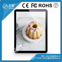 2015 New Design Popular Black ABS frame Acrylic Light Box for coffee shops