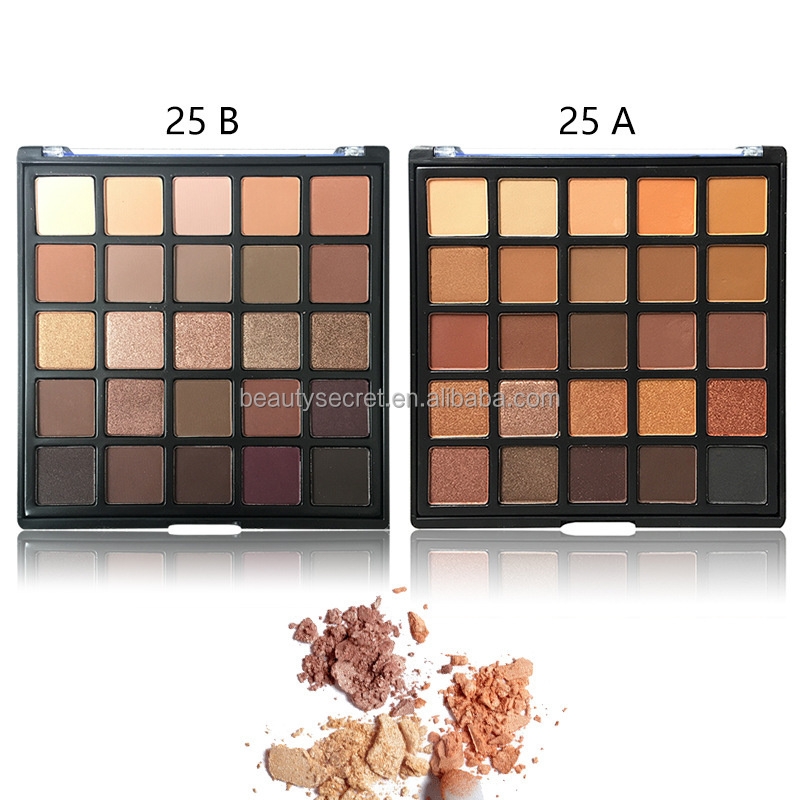25 colors longlasting matte shimmer eyeshadow for cosmetics makeup