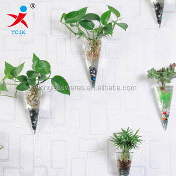 Manufacturers Selling Hanging Glass Wall Hanging Vases Conical Vase