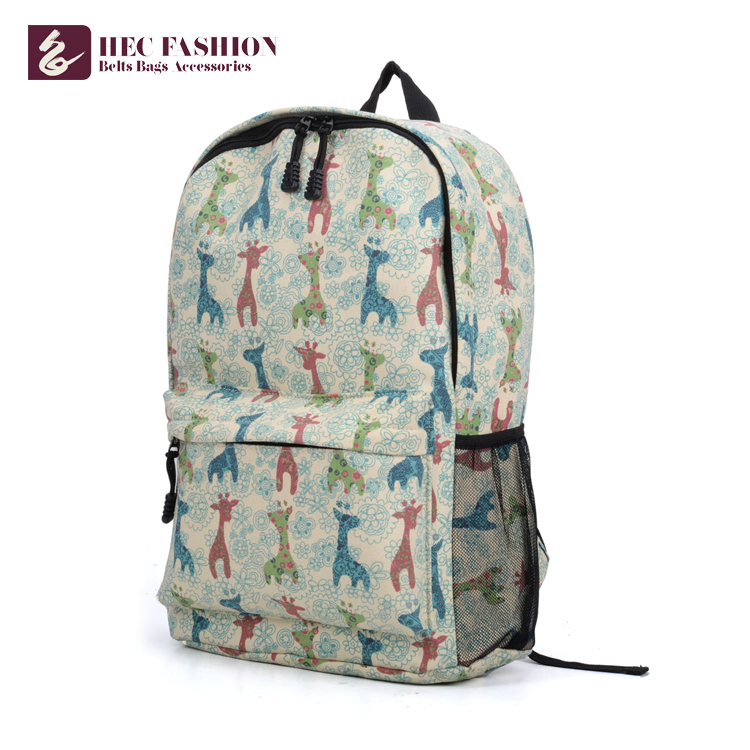 HEC Manufacturer Custom Korean Fashion College Bags Backpack