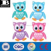 custom baby inflatable owl toys pvc animal toys novelties small blow up inflatable